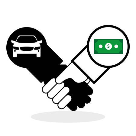 car bills: Car sale  concept with icon design, vector illustration 10 eps graphic.