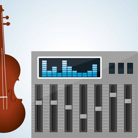 music machine: Music concept with icon design, vector illustration 10 eps graphic. Illustration