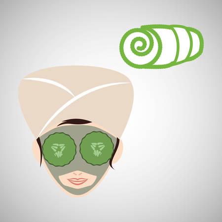 retreat: Spa Center concept with icon design, vector illustration 10 eps graphic.