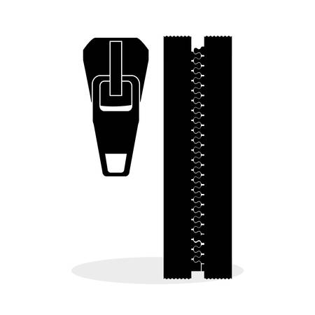unzipped: Zip concept with icon design, vector illustration 10 eps graphic.
