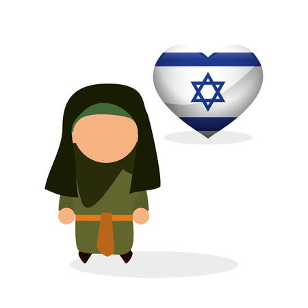 jewish town: Israel concept with icon design, vector illustration 10 eps graphic. Illustration