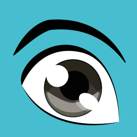 feel feeling: Eye concept with icon design, vector illustration 10 eps graphic.
