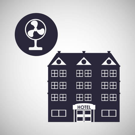 pensions: Hotel  concept with icon design, vector illustration 10 eps graphic.