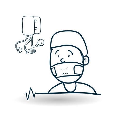 presure: Medial care concept with icon design, vector illustration 10 eps graphic.