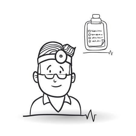historia clinica: Medial care concept with icon design, vector illustration 10 eps graphic.