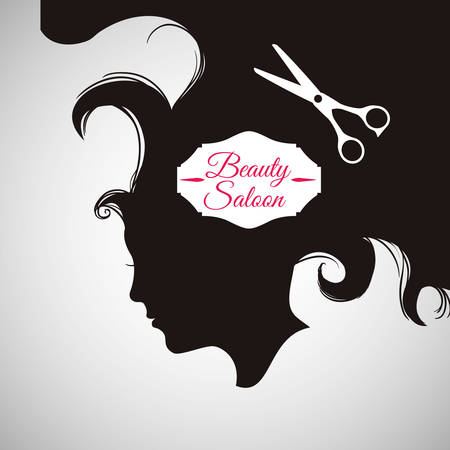beauty shop: Hair Salon concept with icon design, vector illustration 10 eps graphic.