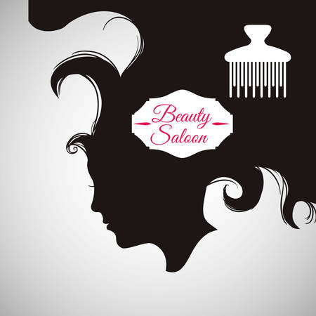 haircare: Hair Salon concept with icon design, vector illustration 10 eps graphic.