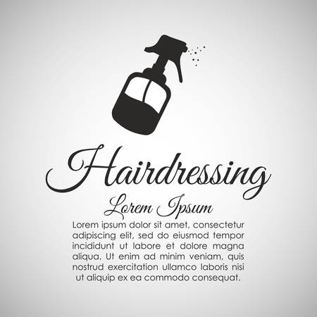hairstylist: Hair Salon concept with icon design, vector illustration 10 eps graphic.