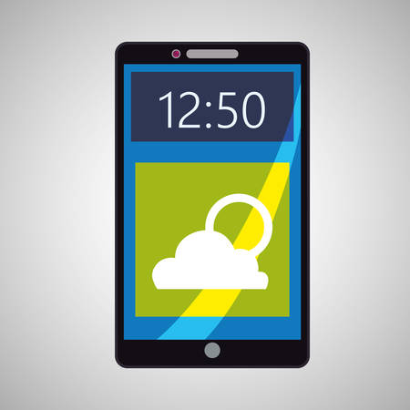 wheater: smartphone concept with icon design, vector illustration 10 eps graphic. Illustration