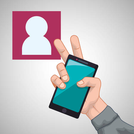 profil: smartphone concept with icon design, vector illustration 10 eps graphic. Illustration