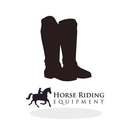 Horse ridding concept with icon design, vector illustration   graphic.