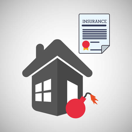 risky: Insurance concept with icon design, vector illustration   graphic. Illustration
