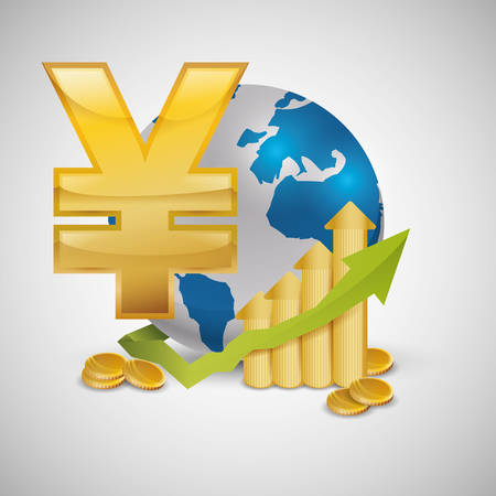 fund world: Global economy concept with icon design, vector illustration   graphic.