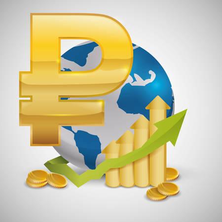 economic forecast: Global economy concept with icon design, vector illustration   graphic.