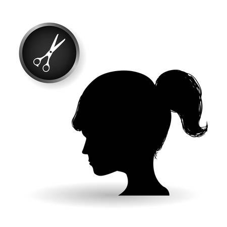 haircare: Hair salon concept with icon design, vector illustration .