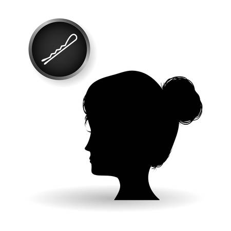 hairstylist: Hair salon concept with icon design, vector illustration  .