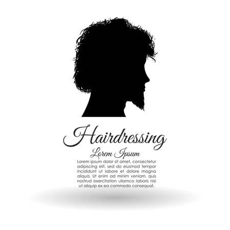 haircare: Hair salon concept with icon design, vector illustration   graphic. Illustration