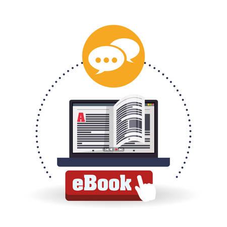 study icon: eBook concept with icon design, vector illustration   graphic.