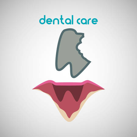 hygienist: Dental care concept with icon design, vector illustration 10 eps graphic.