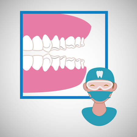 appointment: Dental care concept with icon design, vector illustration 10 eps graphic.