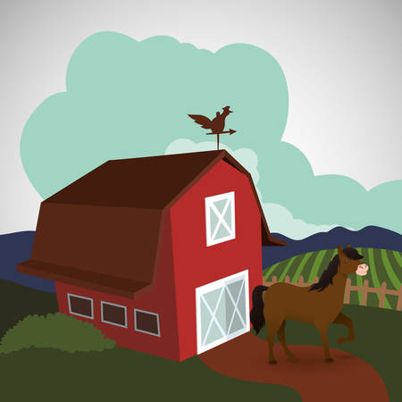 stables: Farm concept with icon design, vector illustration 10 eps graphic.