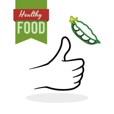 green bean: Healhy food concept with icon design, vector illustration 10 eps graphic.