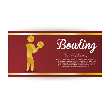 pursuit: Bowling concept with icon design, vector illustration 10 eps graphic. Illustration