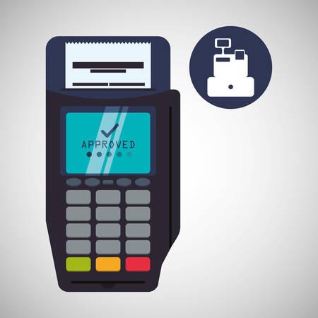 registros contables: concepto de factura con el dise�o de iconos, ilustraci�n vectorial eps 10 gr�fico.