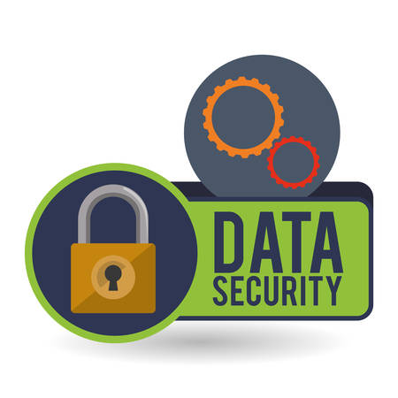 Data security concept with icon design, vector illustration 10 eps graphic. Vector Illustration