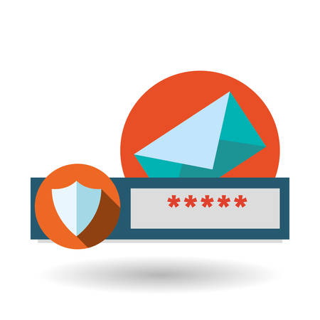 secured: Data security concept with icon design, vector illustration 10 eps graphic.