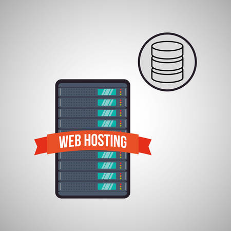 value system: Web Hosting concept with icon design, vector illustration 10 eps graphic.