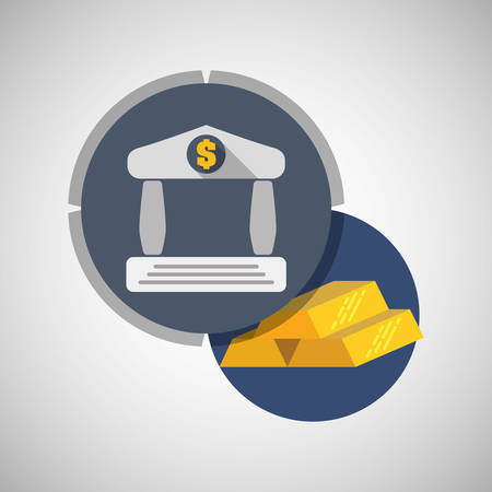 bulding: Money concept with icon design, vector illustration 10 eps graphic.