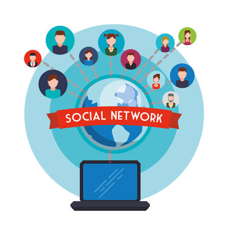 Social Network concept with icon design, vector illustration 10 eps graphic.