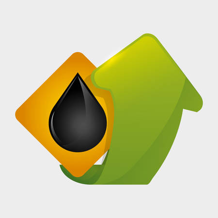 polluting: Petroleum  concept with icon design, vector illustration 10 eps graphic.