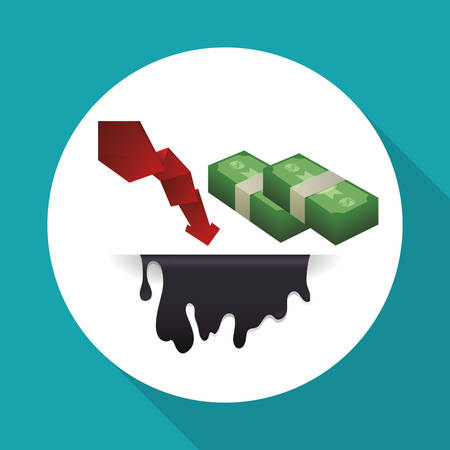 commerce and industry: Petroleum  concept with icon design, vector illustration 10 eps graphic.