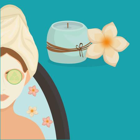 Concept de centre de spa avec design d'icône, illustration vectorielle illustration 10 eps.