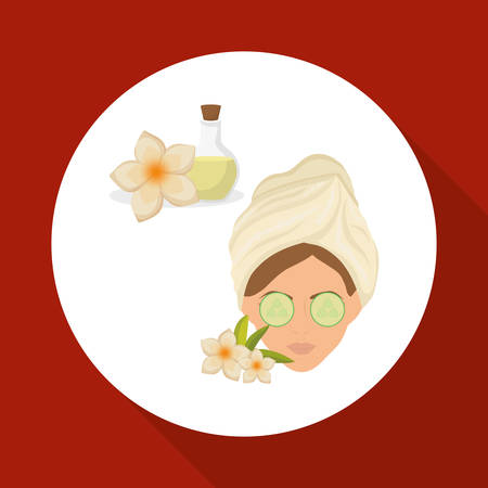 health resort: Spa center concept with icon design, vector illustration 10 eps graphic.
