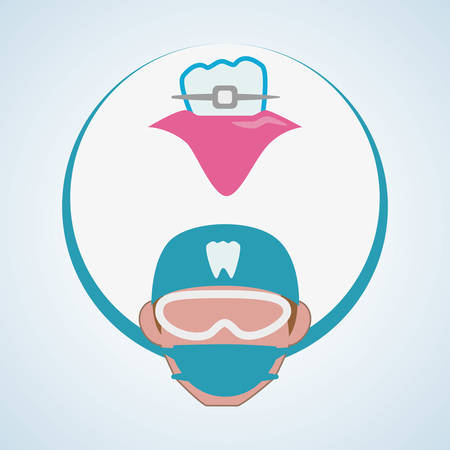 doctor appointment: Dental care concept with icon design, vector illustration 10 eps graphic.