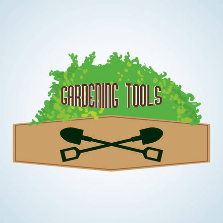 home gardening: Gardening  concept with icon design, vector illustration 10 eps graphic. Illustration