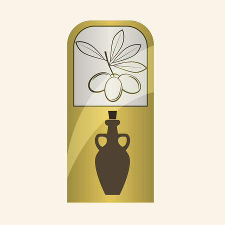alimentation: Olive Oil concept with icon design, vector illustration 10 eps graphic. Illustration