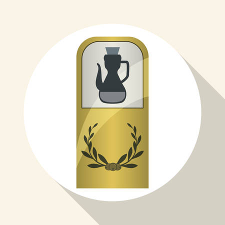 vitamines: Olive Oil concept with icon design, vector illustration 10 eps graphic. Illustration