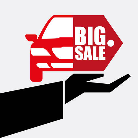 sell car: Car sale  concept with icon design, vector illustration 10 eps graphic.