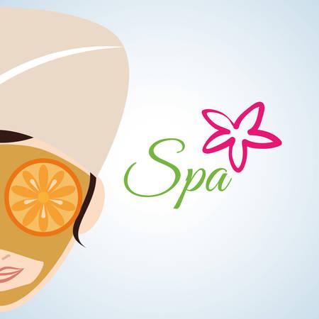 bath treatment: Spa Center concept with icon design, vector illustration 10 eps graphic.