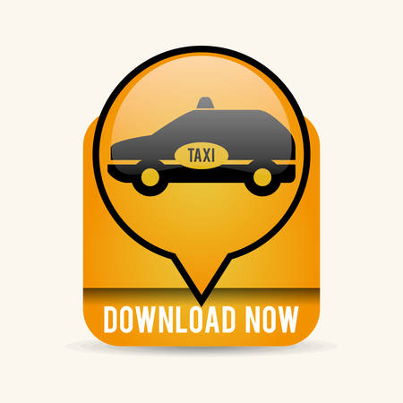american downloads: Taxi concept with icon design, vector illustration 10 eps graphic.