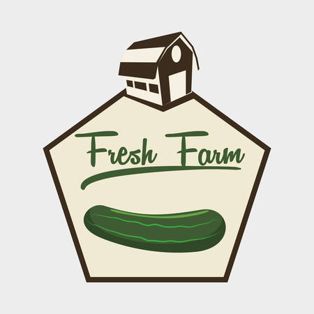 produce product: Farm Fresh concept with icon design, vector illustration 10 eps graphic.