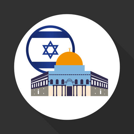 Israel concept with icon design, vector illustration 10 eps graphic. Illustration