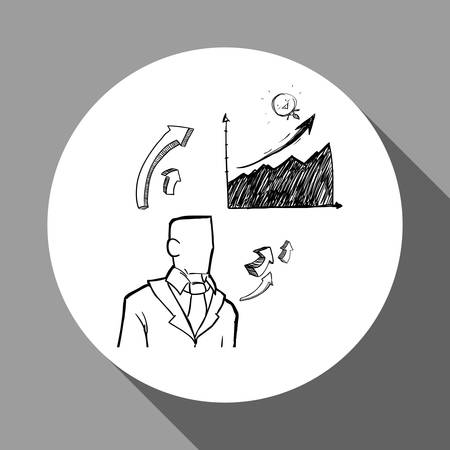 associates: Sketch concept with icon design, vector illustration 10 eps graphic.