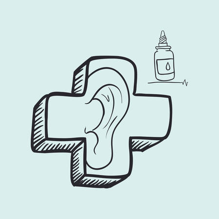 ear drop: Medial care concept with icon design, vector illustration 10 eps graphic.