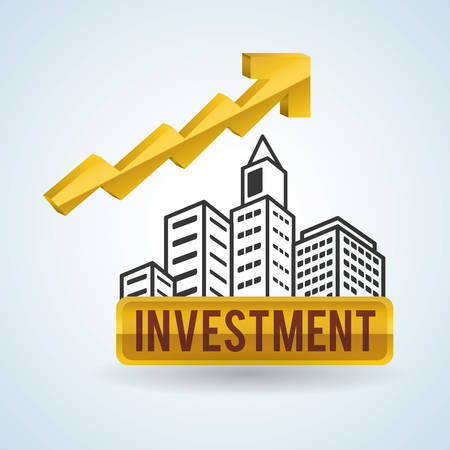 commercial building: Financial item concept with icon design, vector illustration 10 eps graphic. Illustration