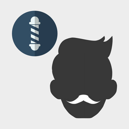 hairstylist: Barber shop concept with icon design, vector illustration 10 eps graphic. Illustration